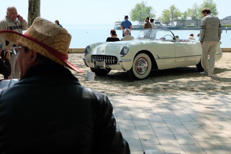 Hogy lássák - a Totalcarban bemutatott C1-es Corvette is kint volt a Concours-on, Füreden