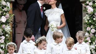 Pippa Middleton lélegzetelállító, György és Sarolta tündériek voltak az év esküvőjén