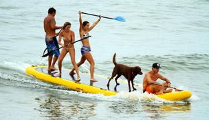 A családi méretű SUP lehet a vízpartok idei szenzációja