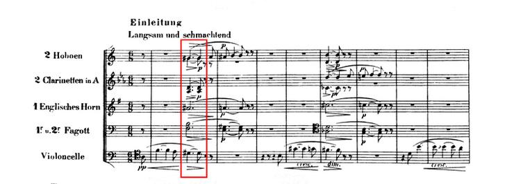 Az opera első ütemei és a Trisztán-akkord