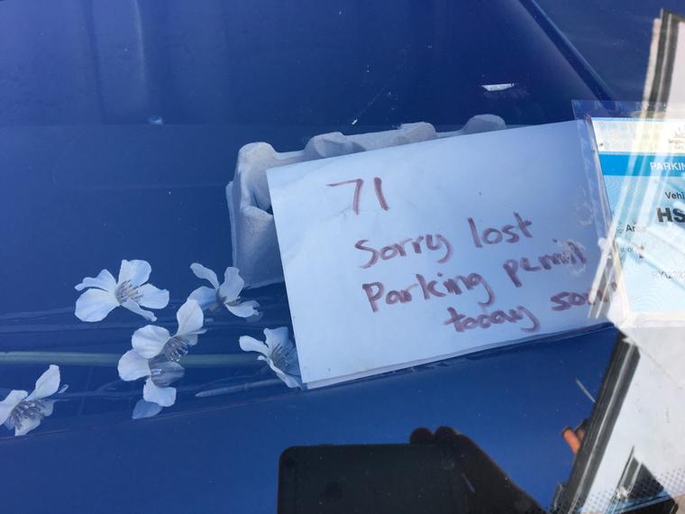 """""""Mindeközben elvesztettük a parkolójegyünket, ezért vettünk három szál virágot a parkolóőrnek"""" – olvasóinknak nem merjük ajánlani, hogy Magyarországon ugyanezt a módszert alkalmazzák, de a jelek szerint Brightonban bevált."""
