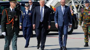 Trump megérkezett Brüsszelbe