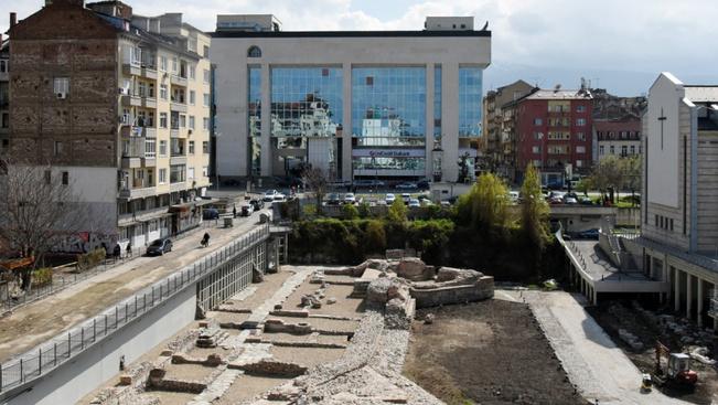 Megnyílt Szófiában a római kori nyugati kapu köré épült park