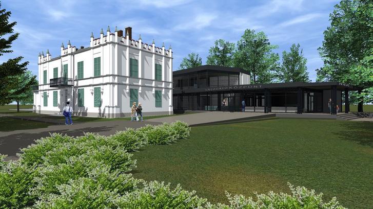 Az új látogatóközpont a martonvásári Brunszvik-kertben: az úgynevezett Kiskastélyban és egy kortárs toldásban