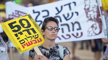 A Palesztin Állam létrehozásáért tüntettek Tel-Avivban