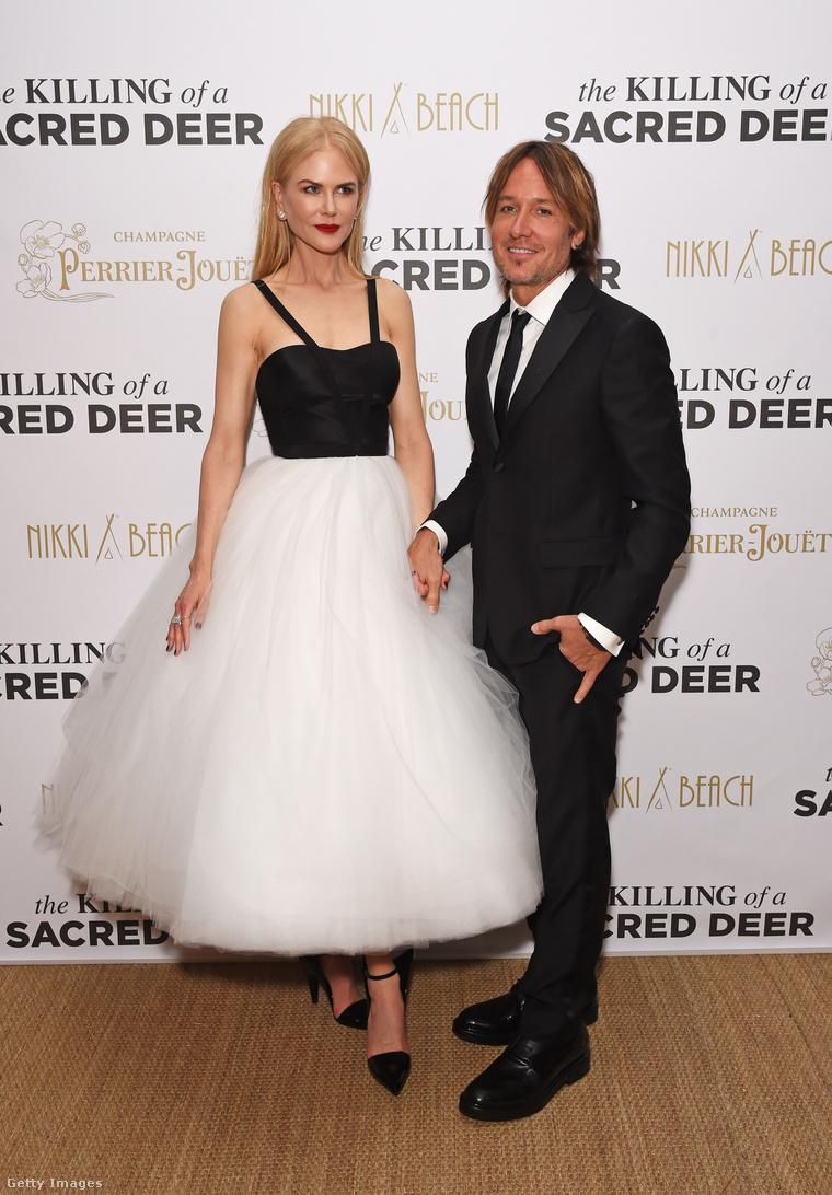 Nicole Kidman és férje, Keith Urban az Egy szent szarvas meggyilkolása cannes-i bemutatóján.