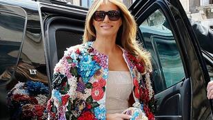 14 milliós Dolce & Gabbana kabátot villantott Melania Trump
