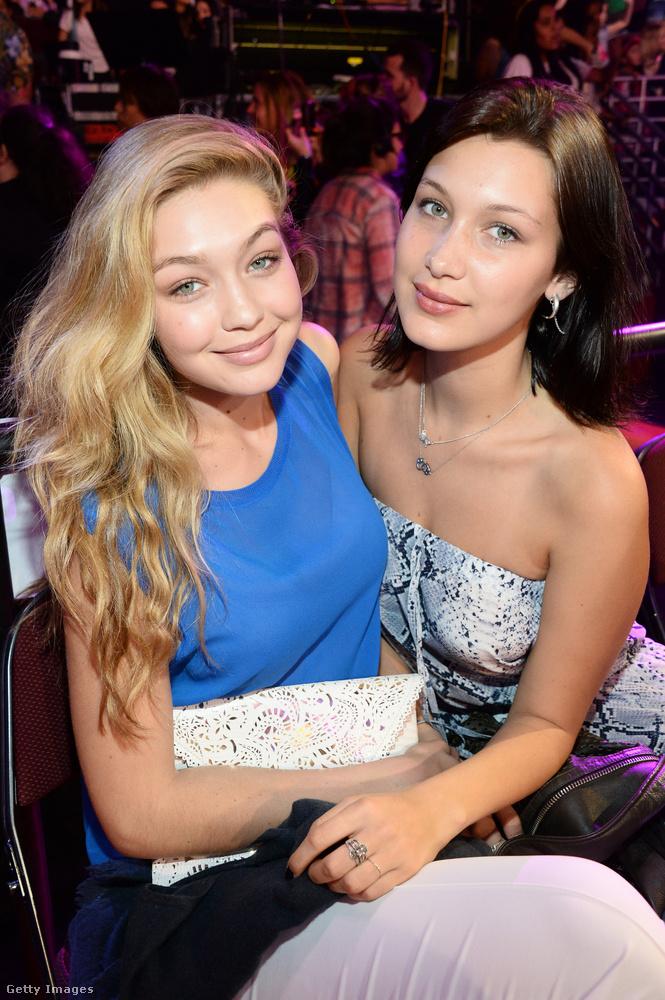 Nővére, Gigi Hadid ekkor már egy ideje a szakmában dolgozott - a testvérpár itt éppen a Nickelodeon Kids' Choice Awards gáláján látható 2014 szeptemberében