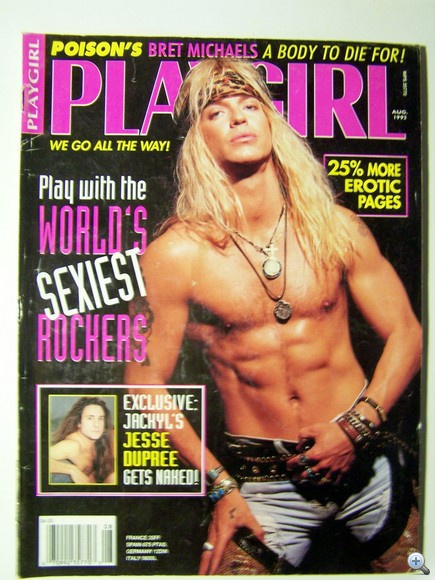 Bret Michaels a Playgirl címlapján