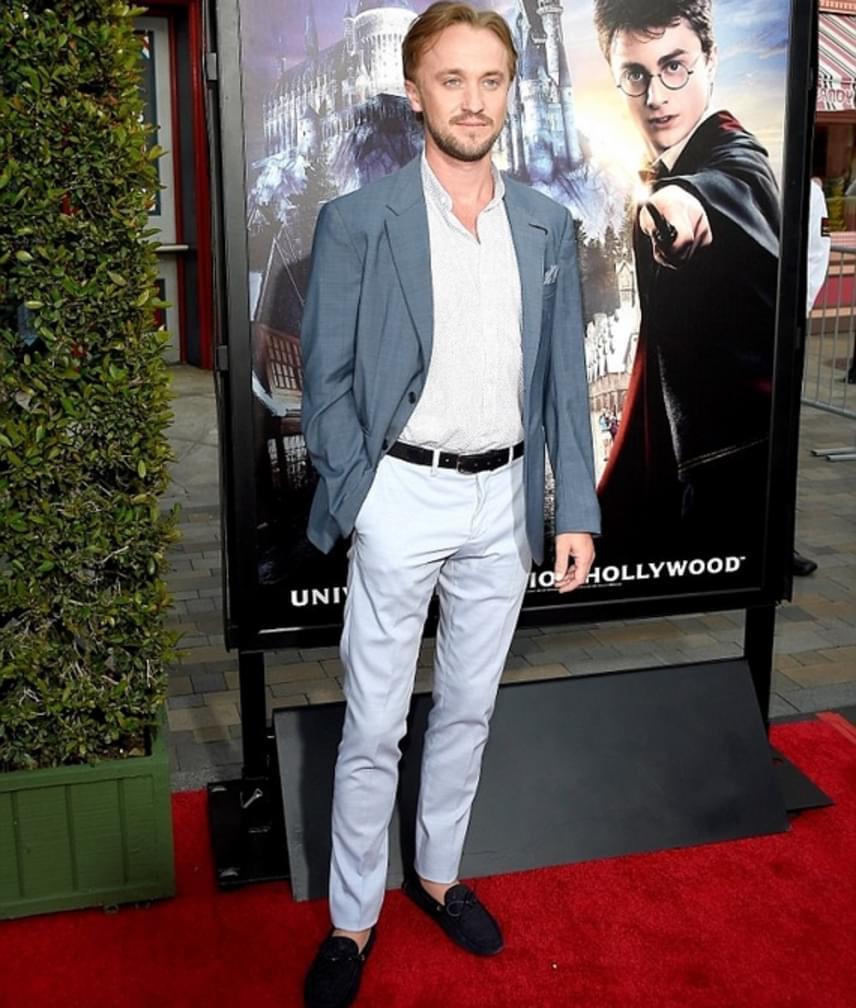 Részt vett az eseményen Tom Felton is, aki tíz éven át Draco Malfoy megformálója volt. A 28 éves Tom is sokat változott az évek során, főként a tejfölszőke hajszín hiánya a szembetűnő.