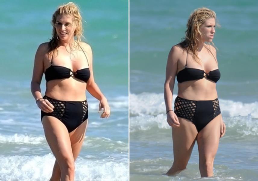 Van egy kis combja és feneke, Kesha mégis boldogan napfürdőzik a tengerparton. Jól teszi, nincs is mit szégyellnie a testén.