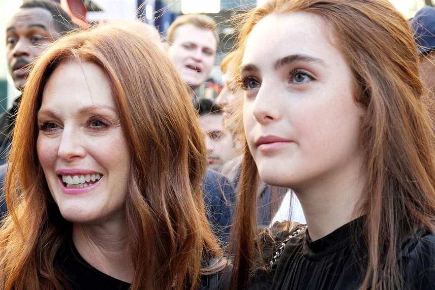 Julianne Moore és lánya, Liv