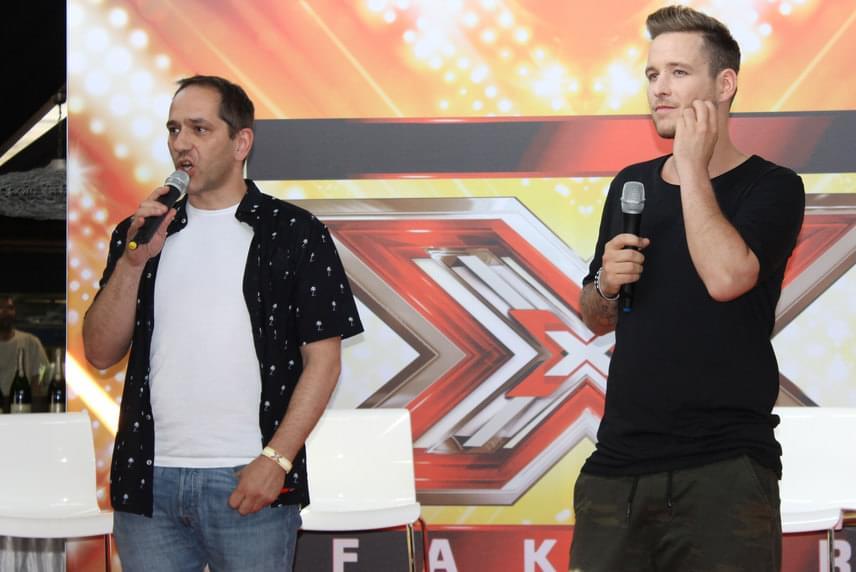 Herman Péter és Istenes Bence a 2016-os X-Faktor sajtótájékoztatóján