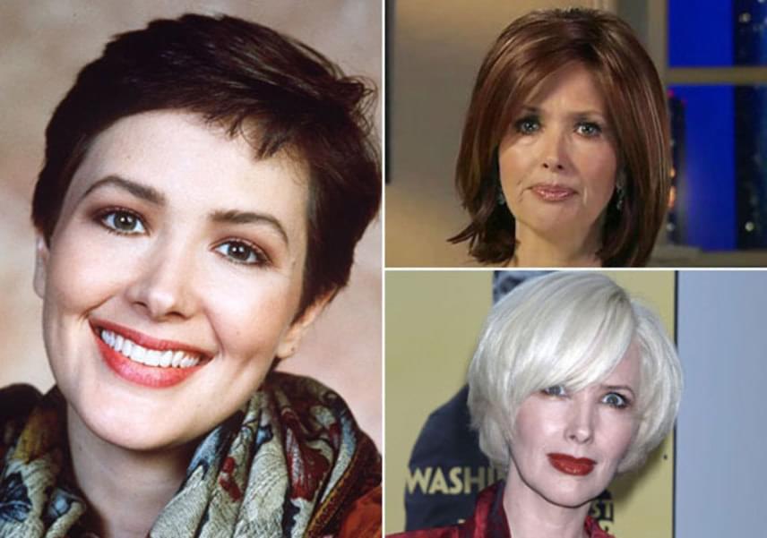 Nem titok, Janine Turner az évek során teljesen rákattant a botoxra. Míg a sorozatban bájos, természetes küllemmel ismerhettük meg (balra), addig a jobb alsó fotón - ami 2007-ben készült, már látszik, hogy arca kezdi elveszteni karakterességét. A színésznő nem ment férjhez, jelenleg lányával, Juliette-tel egy texasi farmon él.