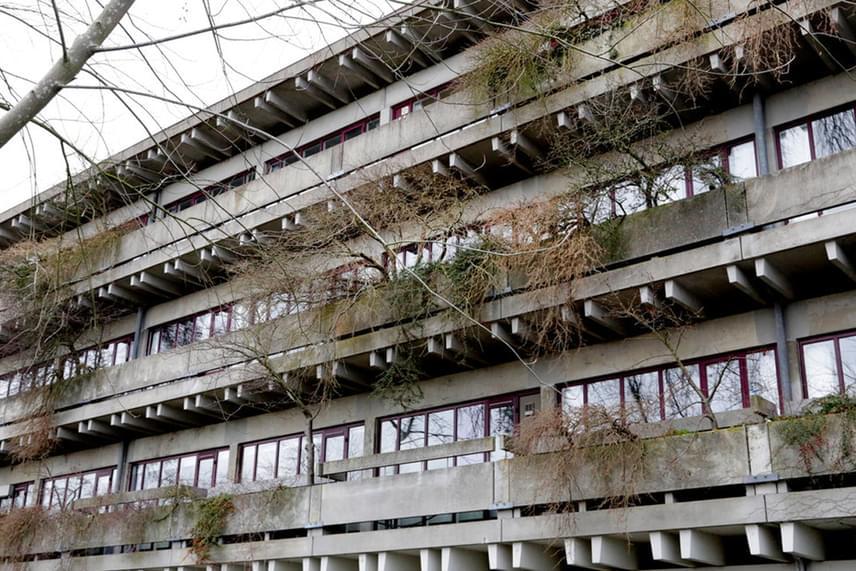 A nyborgi menekültközpont épülete