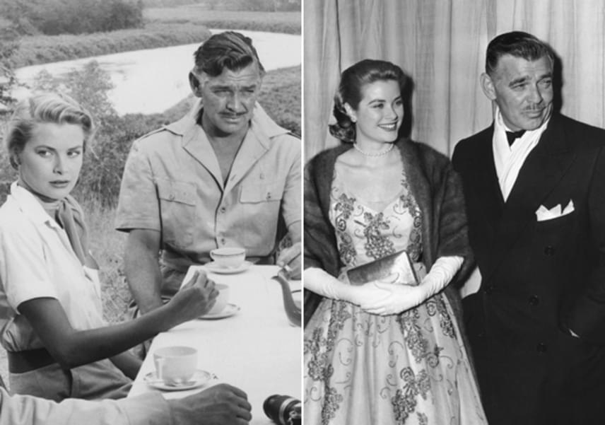 Grace Kellyt nemegyszer hírbe hozták filmes partnereivel, sőt, egyes lapok arról cikkeztek, a hercegné házassága alatt sem vetette meg az erősebbik nemet. Gary Cooper, Clark Gable - képünkön -, Ray Milland, Bing Crosby és William Holden is házas volt, amikor összeszűrte a levet a szép színésznővel.