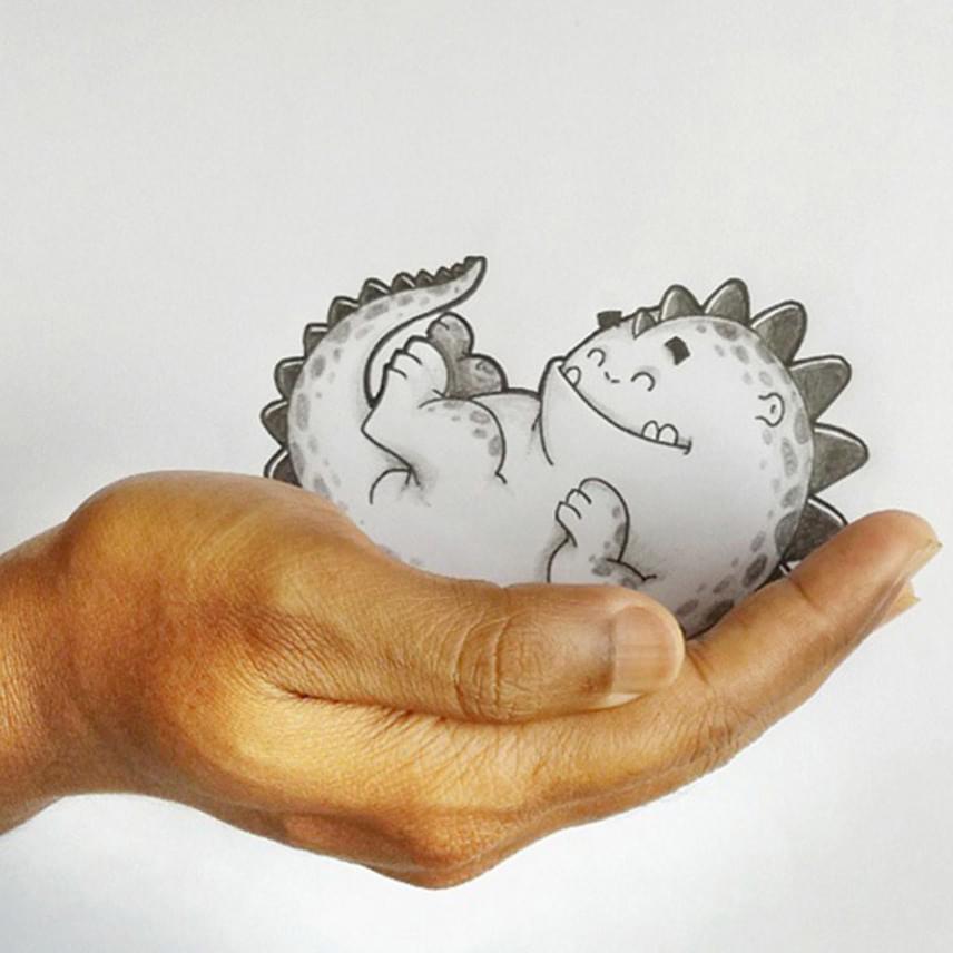 Drogo a világ legcukibb sárkánya, aki gazdája tenyerében is elfér.