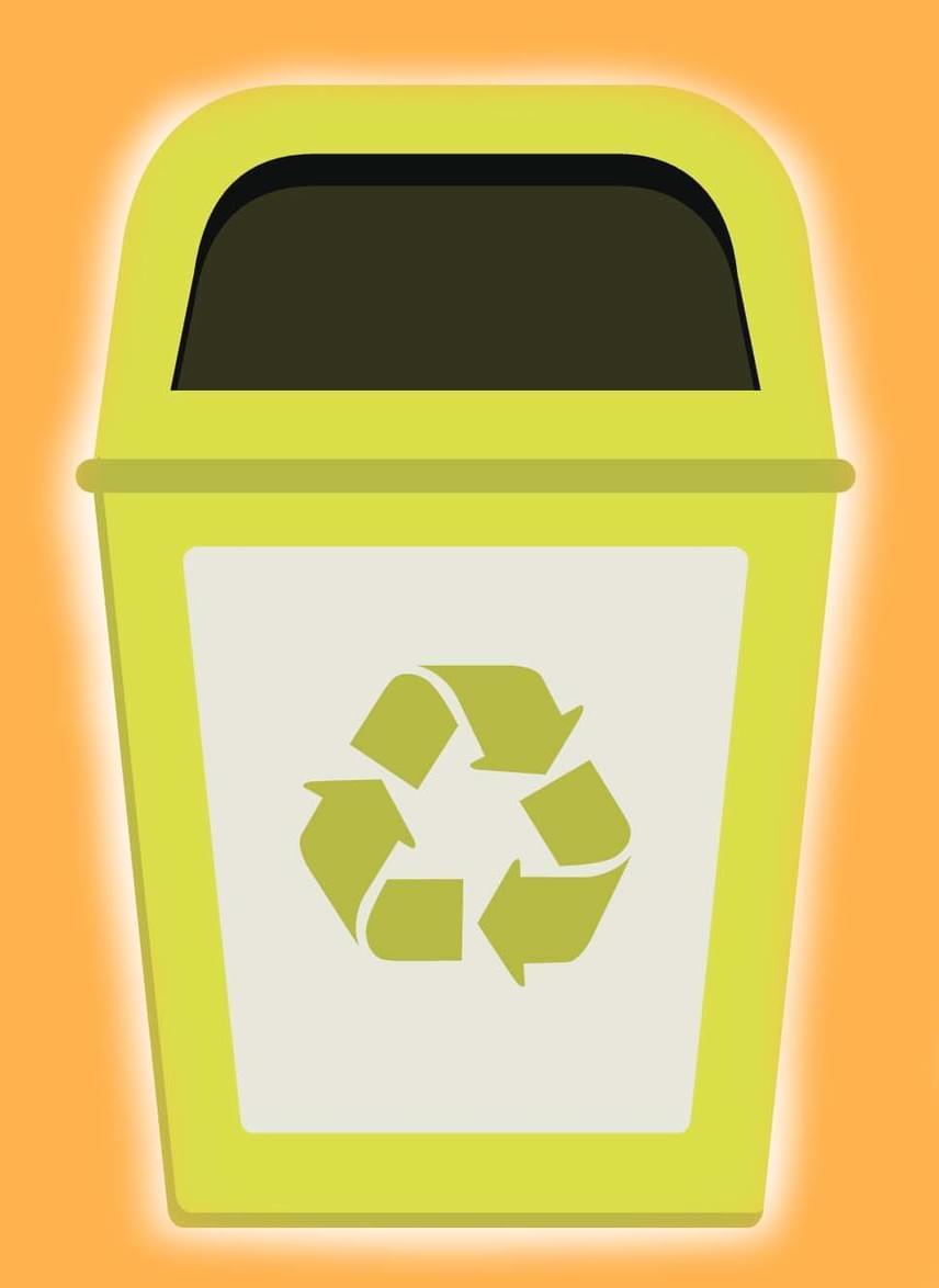 A sárga színű ládákat a műanyagok gyűjtésére szánták. A laposra taposott PET-palackok mellett az alaposan kimosott háztartási, például samponos- vagy mosogatószeres flakonokat kupakkal együtt, illetve a tiszta zacskókat, fóliákat is beledobhatod. Nem szabad belekerülnie papírcímkét vagy élelmiszer-maradványt tartalmazó doboznak, hungarocellnek, lemezeknek, kazettáknak.