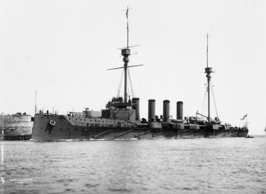 Az HMS Warrior az ütközet előtt