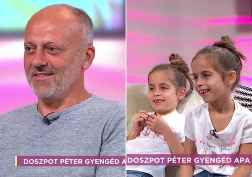 Doszpot Péter fiai, Márk és Gergő már felnőtt férfiak, míg ikerlányai csak februárban lesznek hétévesek.