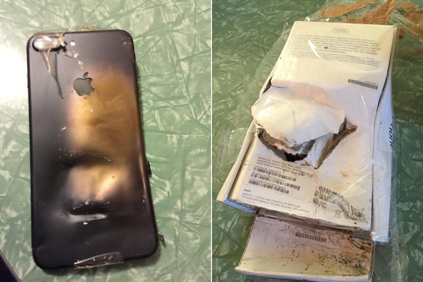 Aggasztó az is, hogy a készülék nem töltés közben robbant fel, hiszen bontatlan dobozban volt, amelyen szintén látszanak a robbanás nyomai - ebből sokan arra következtetnek, hogy a baj akármikor bekövetkezhet, akár telefonálás közben is.