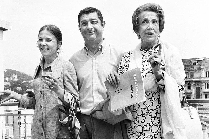 Törőcsik Mari, Darvas Lili és Makk Károly Cannes-ban