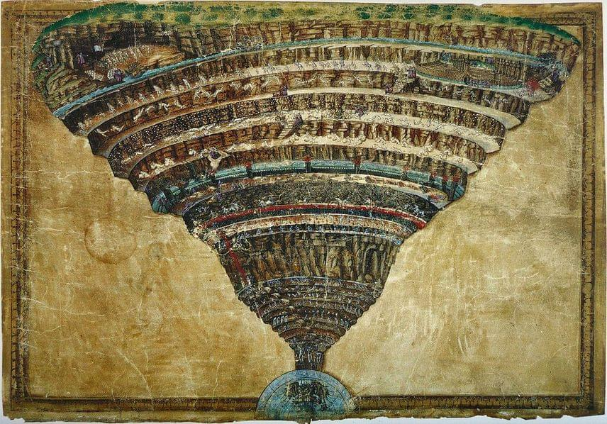 Sandro Botticelli: Chart of Hell