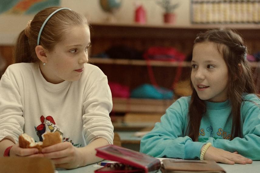 A két gyerek főszereplő: Gáspárfalvi Dorka és Hais Dorottya
