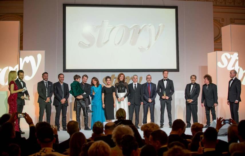 A színpadon a 18. Story-gála díjazottjai
