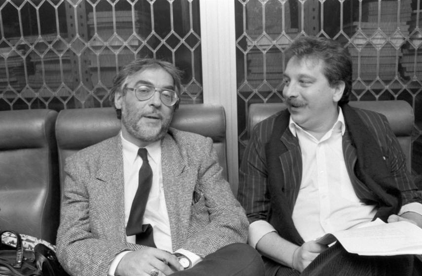 Verebes István és Bajor Imre a Rádiókabaré III.-IV. humorfesztiváljának elődöntőjében 1990-ben