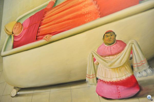 Fernando Botero kolumbiai festő műveiből nyílt kiállítás a Szépművészeti Múzeumban
