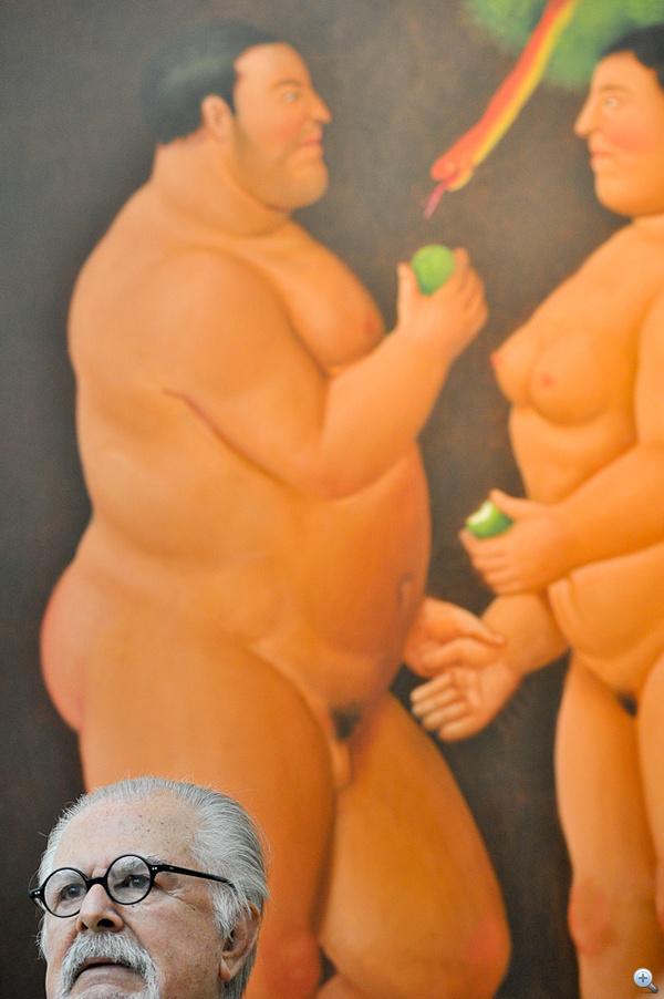 A művész, Fernando Botero egyik képe előtt