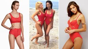Újra menő a Baywatch féle piros fürdőruha
