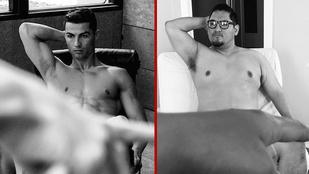 Egy aputestű átlagférfi leutánozta Ronaldo Instagramját