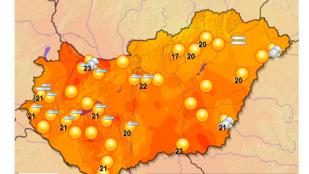 Magyarország besárgult! Olyan szép idő lesz egész nap, hogy néhol felhőszakadás, jégeső adja a másikat