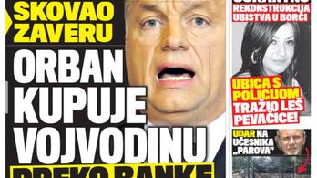 Orbánnal riogatja olvasóit az egyik szerb bulvárlap