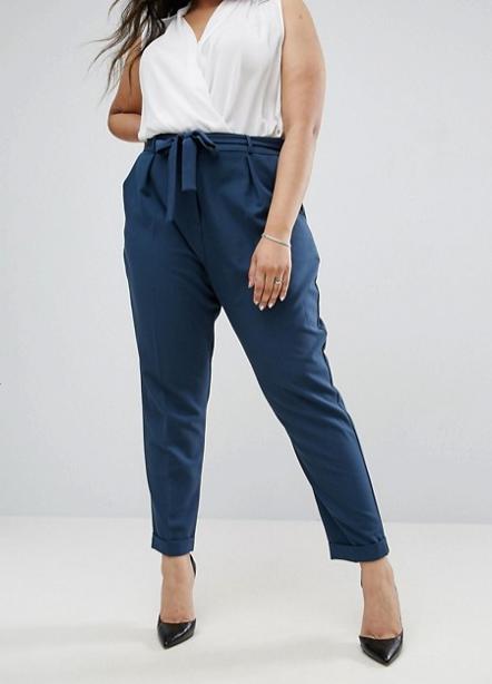 A magasított derekú, felül kissé buggyos nadrág vékonyabbnak mutatja a derekadat és eltakarja a pocakodat.