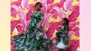 Beyoncé kislánya Givenchy műtősruhában nézheti végig testvérei születését