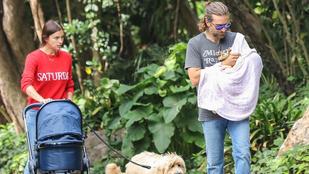 Irina Shayk és Bradley Cooper megszellőztette kisbabáját