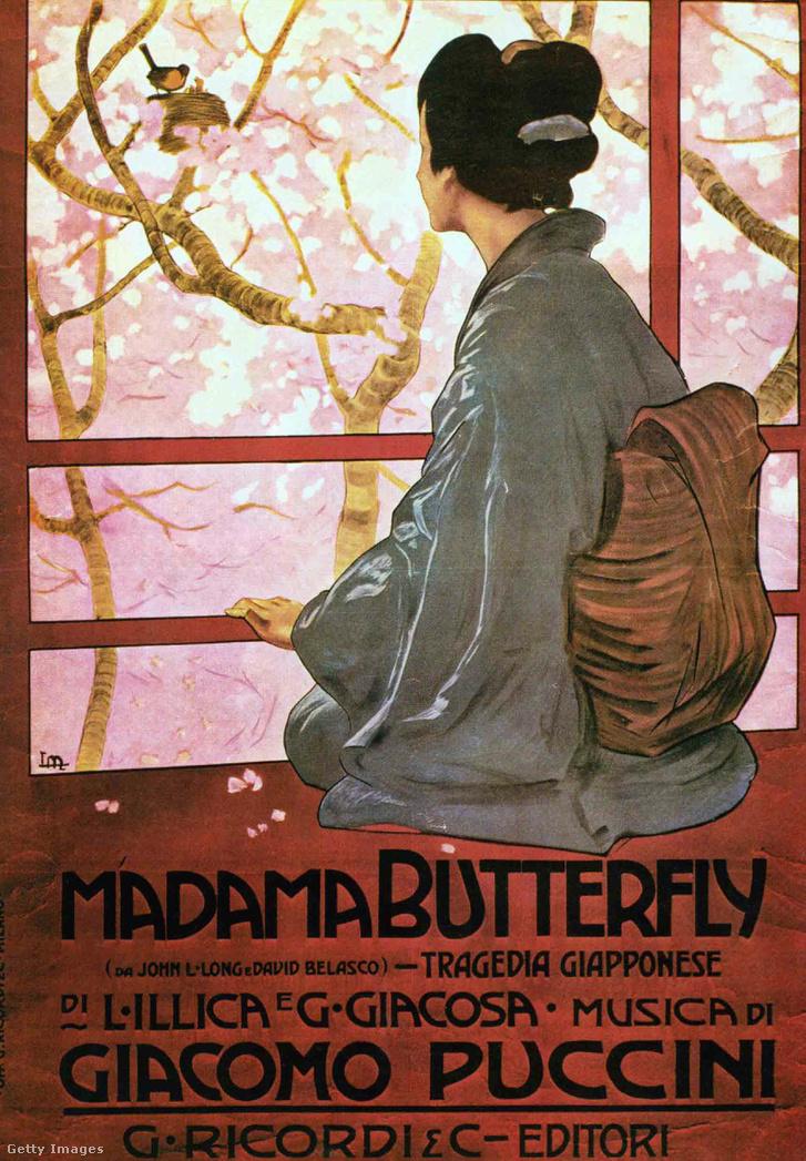 A Pillangókisasszony egy régi plakátja