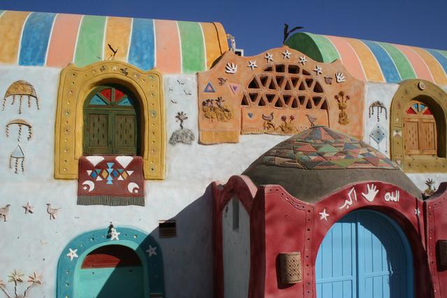 A núbiai falu egyik különleges építménye