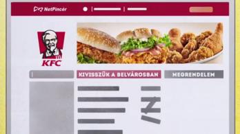 Keddtől a KFC-ből is lehet rendelni a Netpincéren