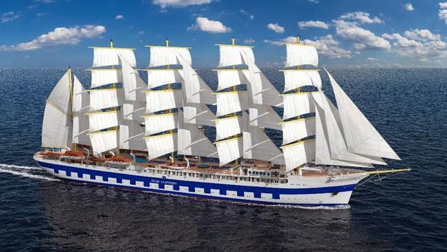 Háromszáz utas is elfér a világ legnagyobb keresztvitorlás hajóján
