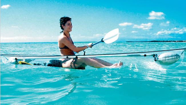 Az átlátszó kajakban úgy csodálhatja a víz alatti világot, mintha búvárkodna