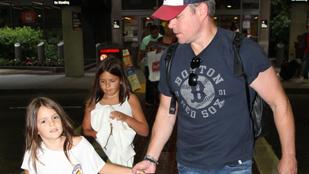 Matt Damonnak gyönyörű kislányokat sikerült összehoznia
