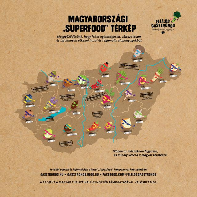 """Így néz ki hazánk """"Superfood"""" térképe régiókra és évszakokra lebontva."""