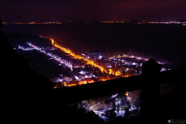 Szigliget by night - kilátás a várból