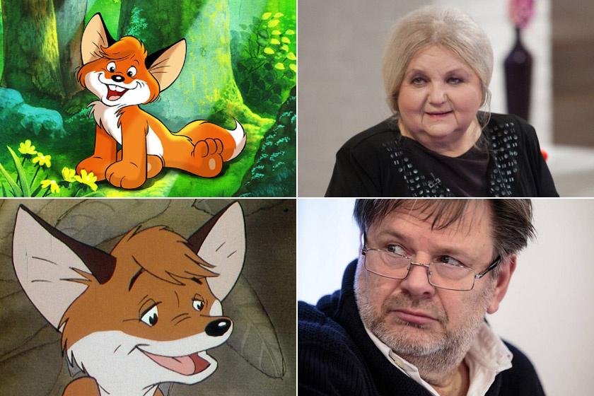 A kis Vuk hangja Pogány Judit volt - Vuk testvéreinek hangját is ő adta -, a felnőtt rókáé Gyabronka József.