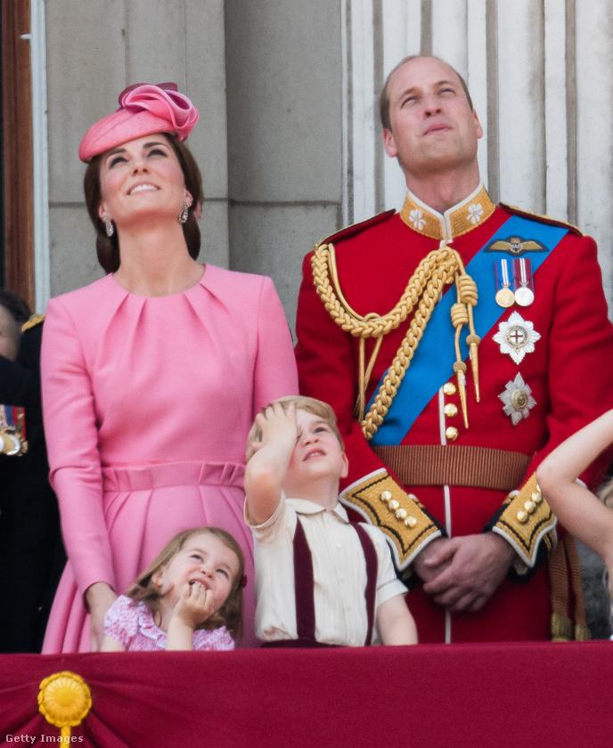 Katalin hercegné, Vilmos herceg, és gyermekeik: Sarolta és György