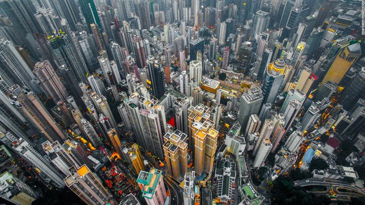 A hongkongi felhőkarcoló-erdő